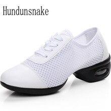 Hundunsnake White Jazz Dance Shoes Platform Women Sneakers Ladies Sport Krasovki Female Gym Gumshoe Trainer Chaussure Femme T148