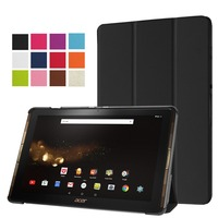 Luxury Ultra Slim 3 Folder Folio Stand PU Leather Flip Magnetic Cover Case For Acer Iconia