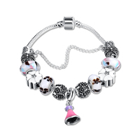 Yueyin 2016 hot charm armbanden en charm armbanden 925 kroon hanger crystal ball vriendschap armband dame mode armband