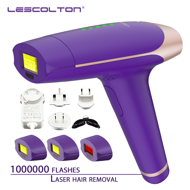 1000000times 3in1 Lescolton depilador a laser Epilator laser hair removal For Whole Body Bikini underarm Electric Epilator T009S in Epilators from Home Appliances