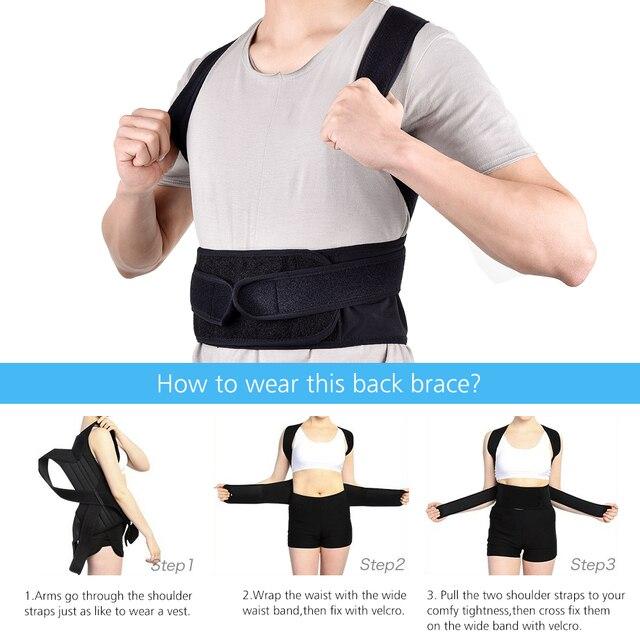 Back Posture Corrector Shoulder Lumbar Brace Spine Support Belt 2