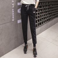 Striped Trousers Side Striped Pants Women Skinny Pants Black Pantalon Harem Femme Heremes Side Stripe Black