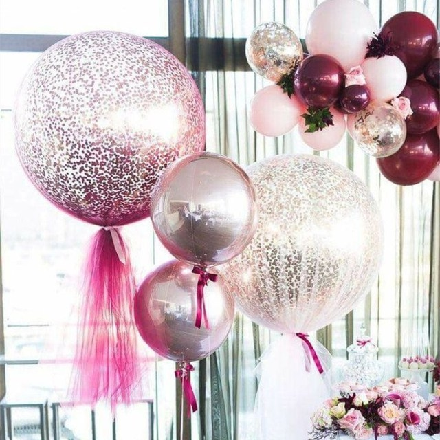 15pcs 36 inch 25g jumbo large round latex balloons transparent clear giant wedding ballons table centerpiece