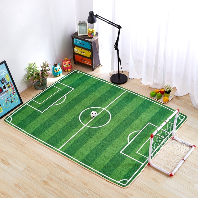 Kids football rug roselawnlutheran for Rugs for kids bedrooms