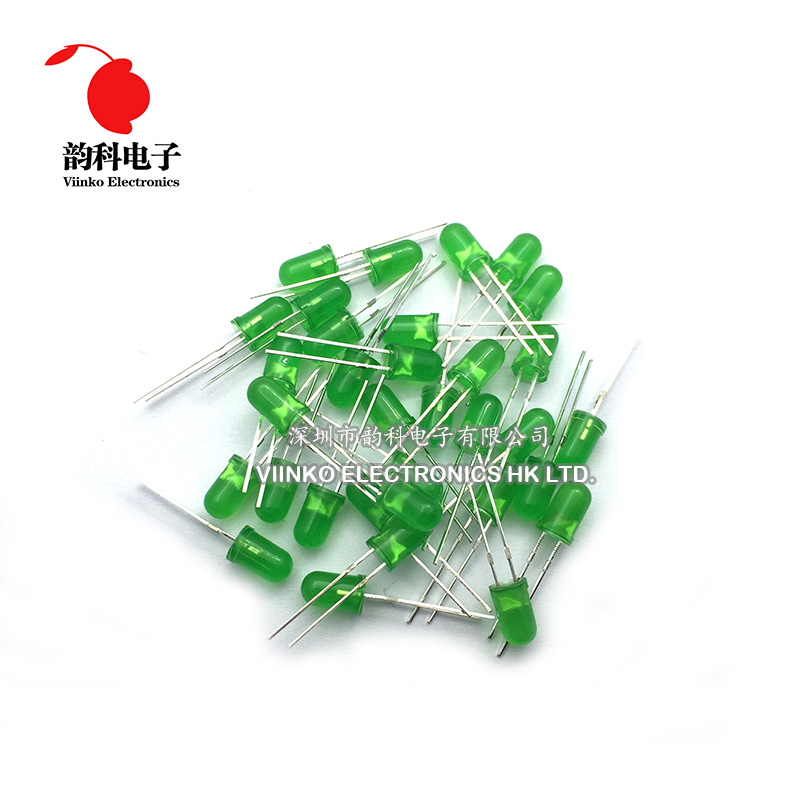 Electronic Components & Supplies Creative Free Shipping 1000pcs Green Led 5mm Green Light-emitting Diode Green Turn Green Diodes
