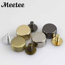 20Pcs Round Head Rivet Screw For Bags Decorative Studs Button Nail Metal Buckles Snap Hook Leather Hardware Handbag