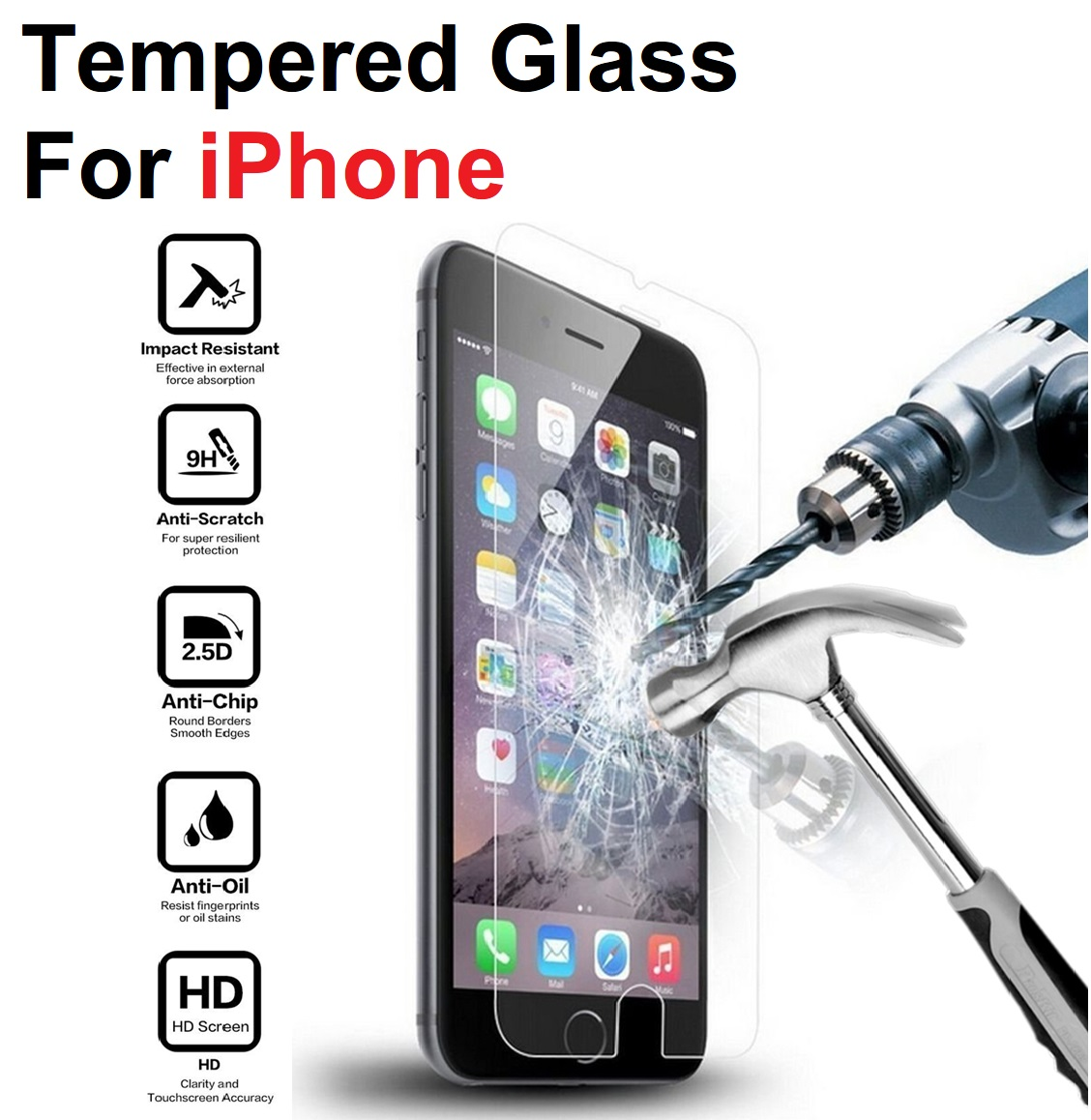Protective Glass On The For Iphone 6 S 6s Plus 6splus S6 Tempered Glas For Apple <font><b>Iphone6</b></font> I Phone Iphon 6plus Screen Protection image