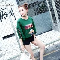Qlychee Fashion Eye Print Ring T Shirt Women Short Sleeve Summer Casual Top Female Harajuku Street