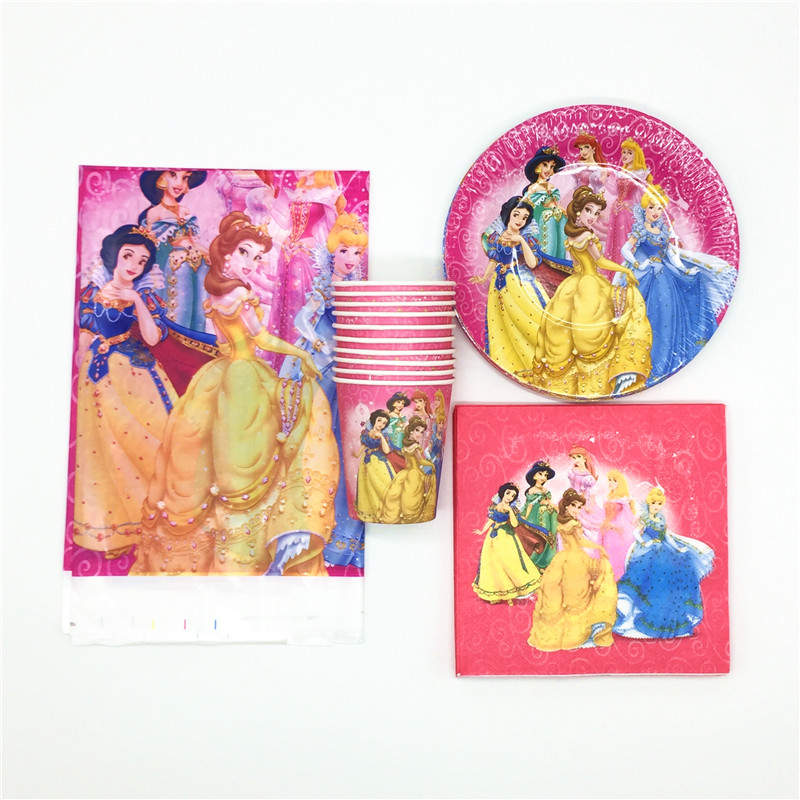 Disney Six Princess Theme Design 61Pcs/Lot Gift Bags Snow White Paper Cup Plate Birthday Party Decoration Theme Party SuppliesDisney Six Princess Theme Design 61Pcs/Lot Gift Bags Snow White Paper Cup Plate Birthday Party Decoration Theme Party Supplies