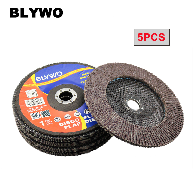 5pcs 40# Grit Aluminum Oxide Flap Disc Outer Diameter 180mm Metal Sanding Flap Discs Angle Grinder Wheels For Metalworking