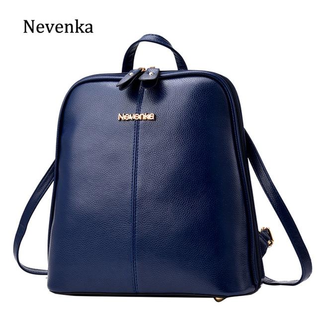 Nevenka Women Leather Backpack Female Navy Blue Backpacks for Girls Mini  Backpack for Teenagers Satchels Girls 74ba2a8896