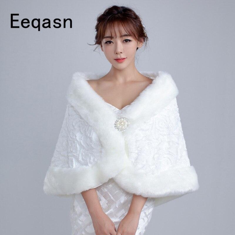 8e5656e7a4e Cheap New Arrival Wedding Faux Shawl Winter Warm Bridal Jackets Ivory Red  wedding bolero for women