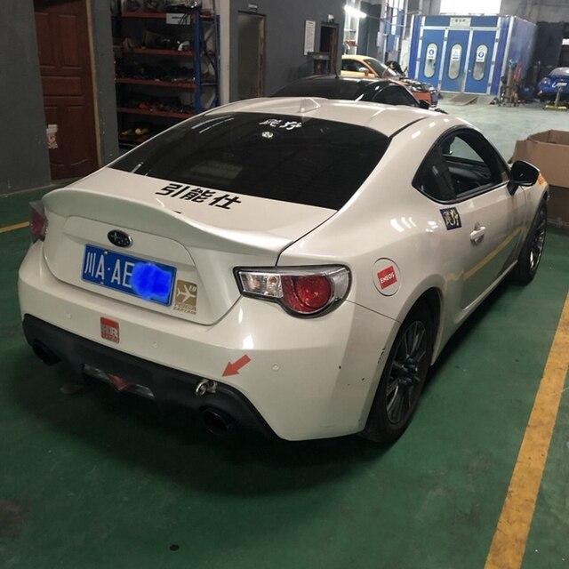 Para Subaru BRZ cola del coche maletero FRP tipo material de fibra de vidrio sin pintura spoiler para Toyota GT86 2012, 2013, 2014, 2015