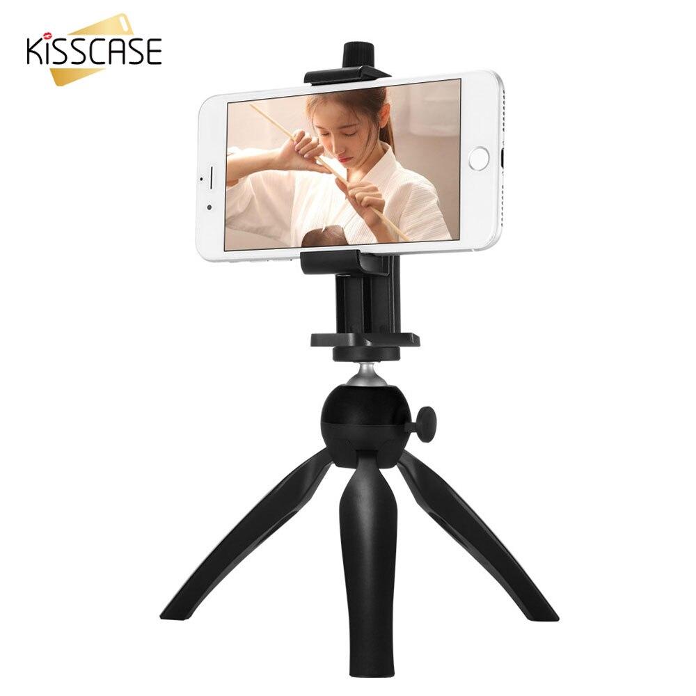 imágenes para Kisscase proyector teléfono de escritorio mini trípode de cámara autodisparador soporte mini trípode de 360 grados gira soporte del teléfono móvil portátil