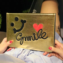 Protective Case For Ipad Air Case Ipad Air 1 9.7″ PU Leather Anime Stand Holder Anti-dirt Sleep Function Tablet Pad Smile