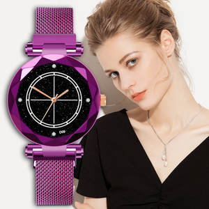 women's watches fashion Ladies Women Watches Magnetic Starry Sky Clock Diamond Female Quartz wrist watches for women