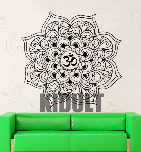 Colorful Art Design Hamsa Hand House Decorative Vinyl Wall Stickers Home Decor Arab Religious Mandala OM