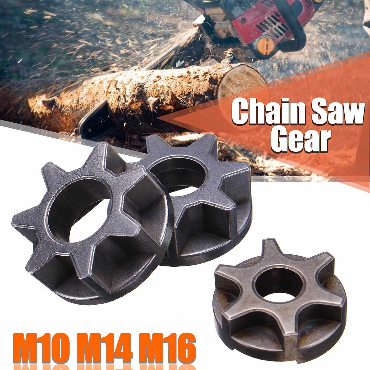 M10/M14/M16 Chainsaw Gear Alloy Steel Fit For 100/115/125/150/180 Angle Grinder Angle Grinder Replacement Gear Replacement Power