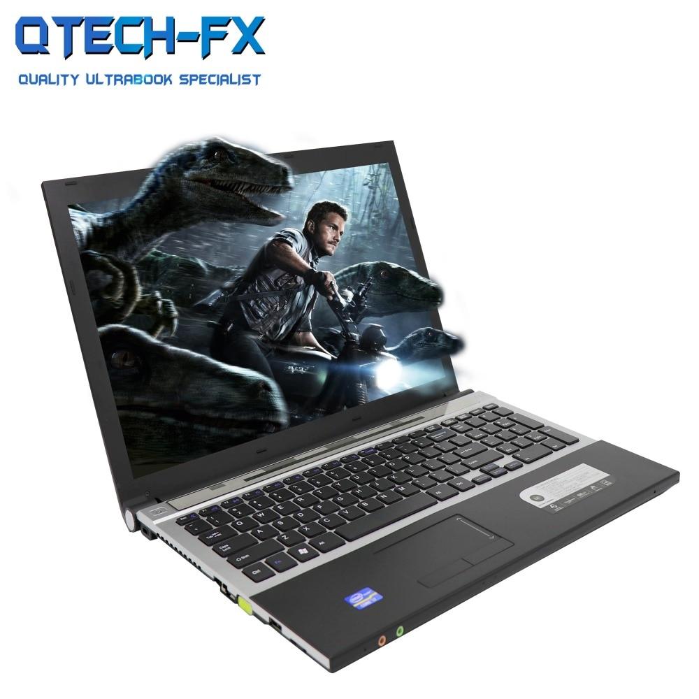 15 6 Gaming Laptop i7 8GB RAM SSD 512GB 256GB 128G Large Notebook PC DVD Metal