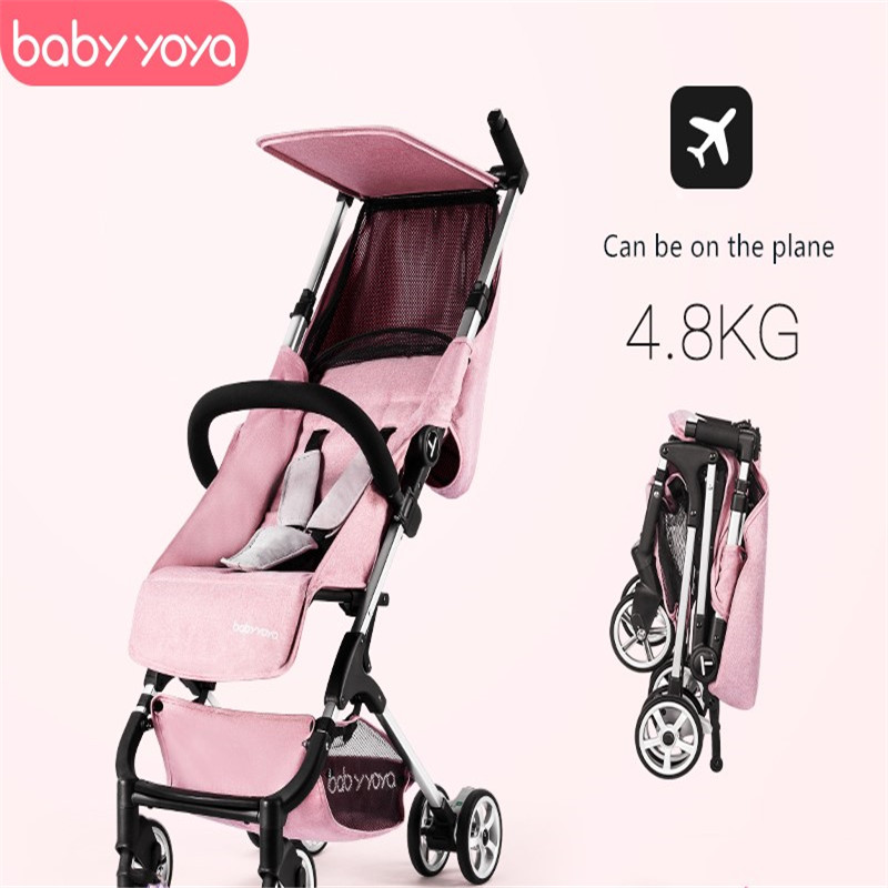 Babyyoya folding 4.8KG ultra-light baby stroller aluminum material can sit reclining can be on the plane umbrellaBabyyoya folding 4.8KG ultra-light baby stroller aluminum material can sit reclining can be on the plane umbrella