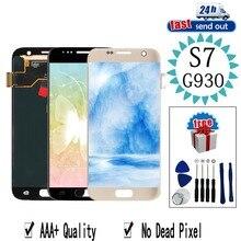 AMOLED LCD untuk Samsung Galaxy S7 G930A LCD Display G930 G930F Layar Sentuh Diuji Rakitan Digitizer