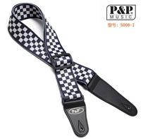 High quality  folk guitar guitar straps, electric guitar straps Plaid strap Avril child star of the same type