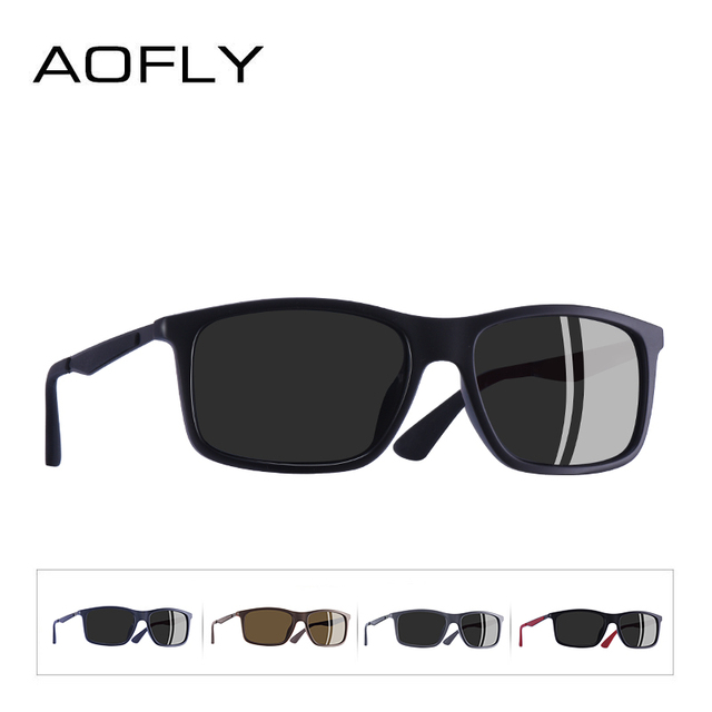 AOFLY BRAND DESIGN Classic Polarized Sunglasses Men TR90 Square Frame Sun Glasses Male Driving Goggles UV400 Eyewear AF8082 3