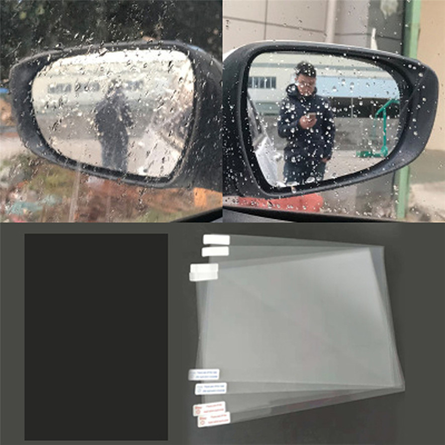 Car Anti Water Mist Film Anti Fog Rainproof Rearview Mirror Protective Film Convenience Practical Durable High Quality L0425