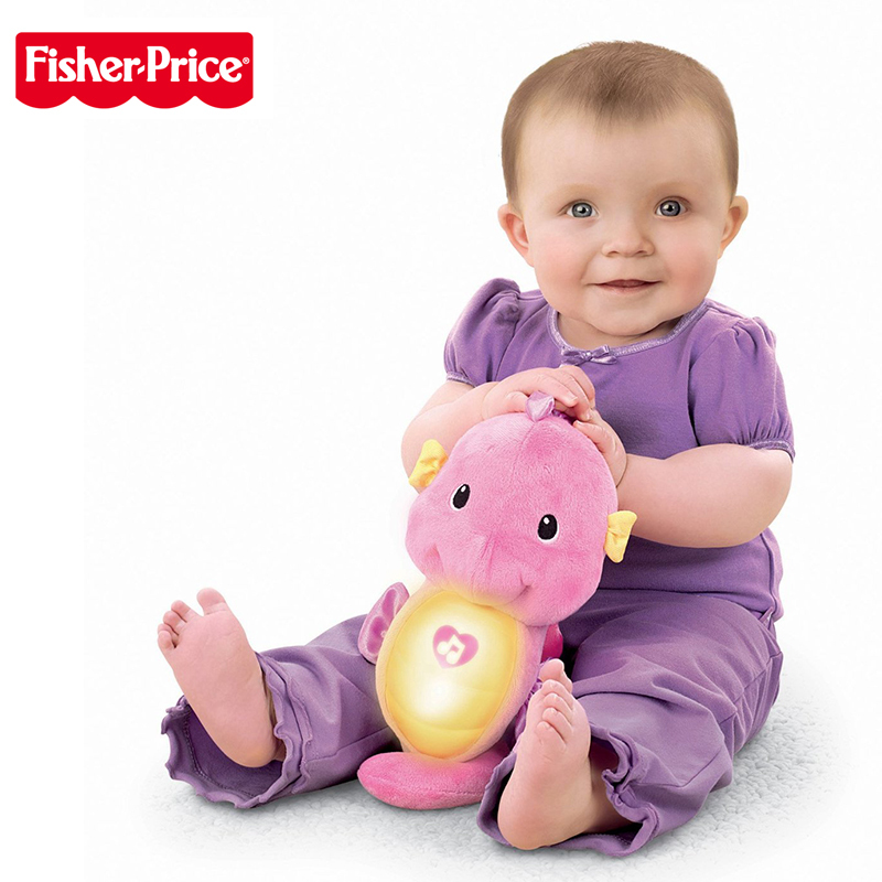 Original Fisher Price Baby Musical Babytoys 0 12months Seahorse Appease Educational Toys Hippocampus Plush Peluche Doll
