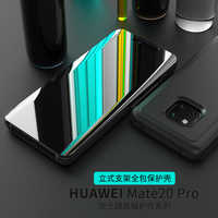 Mirror Flip Case For Huawei Mate 20 Pro Luxury Clear View Leather Cover For Huawei Mate 20 Pro Smart Case for Huawei Mate20