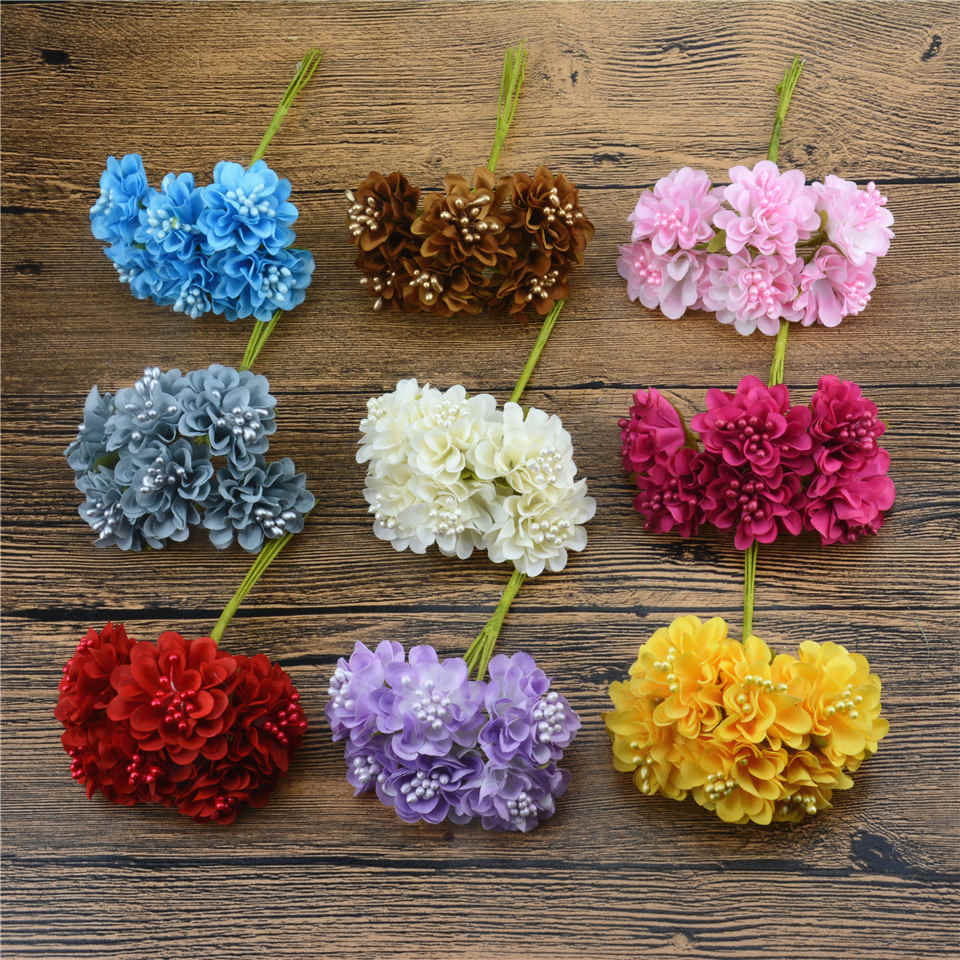 Online buy wholesale artificial daisy from china artificial daisy 12pcs lot 2017 mini silk artificial daisy rose flowers for wedding decoration diy simulation scrapbooking dhlflorist Gallery