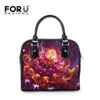 FORUDESIGNS 3D Floral Prints Small Handbag Grils And Women Shop Online Handbags Stylish Pu Flower Handbags