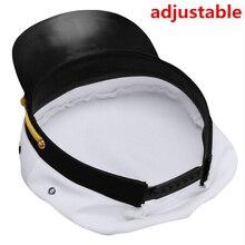 Vintage blanco ajustable capitán marineros capitán de la marina de  navegación militar sombrero adulto fiesta de 421db703a69