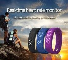 Новая мода спортивный браслет H5S Шагомер Смарт Браслет монитор сердечного ритма SmartBand фитнес-трекер для Android IOS Телефон