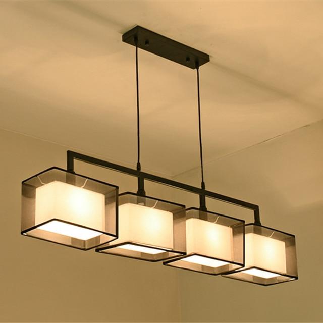 Quality 2 3 4 heads lights cord light fixture modern nordic cloth ...