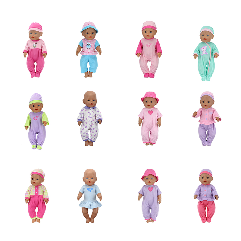 15 Style Choose Doll Clothes  Fit 17 Inch 43cm Doll Clothes Born Baby Doll Clothes For Baby Birthday Festival Gift