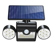 Solar Light 30LED Solar Lamp Outdoor with Motion 360 ° Rotatable Dual Light Head