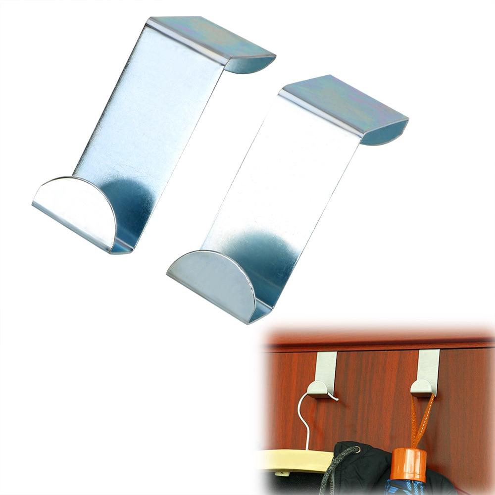 2Pcs/Set Door Straps Hanger Hooks Hat Bag Organizer Home Kitchen Cabinet Wall Door Stainless Steel  Coat Storage Holder Hook