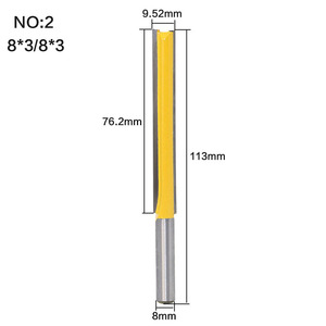"""Image 3 - 1 pc Straight/Dado Router Bit 1/2"""" Dia. X 3"""" Length   8"""" Shank Woodworking cutter Wood Cutting Tool"""