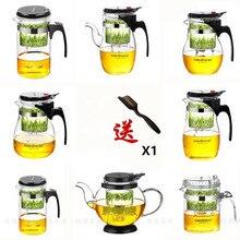 Различные Kamjove стеклянный кунг-фу чайник PiaoYi Bei удобный чайный набор кунг-фу пресс авто-открытая художественная чайная чашка