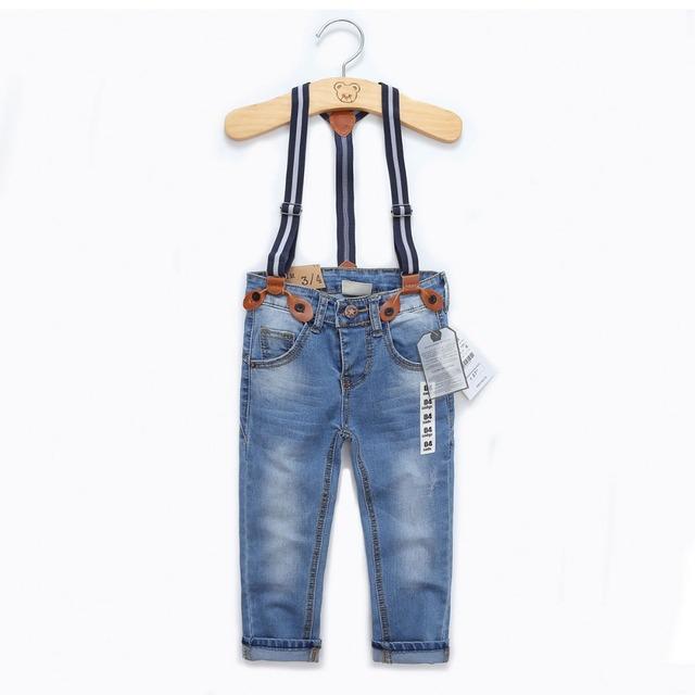 2016 otoño y el invierno de la marca de moda niños y niñas de ropa para niños pantalones de estiramiento elástico de Slim jeans pantalones de Lavado