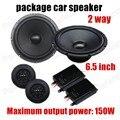 Envío libre 6.5 pulgadas paquete de coche altavoz estéreo del coche de altavoces de audio de una piezas de 2 vías 2x150 W para todos los coches