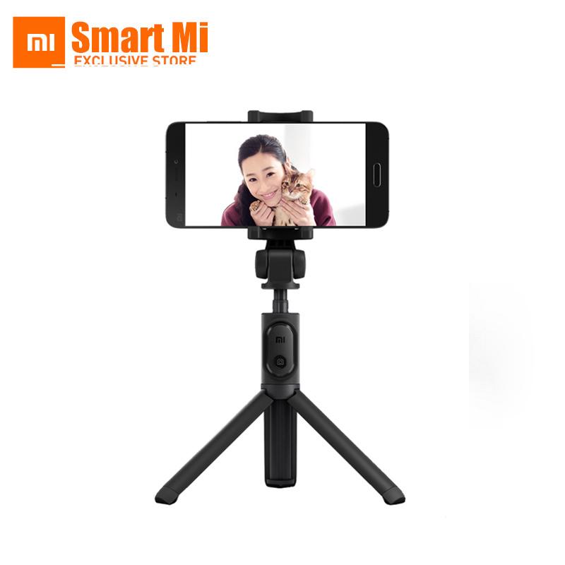 Prix pour Xiaomi origine pliable de poche trépied selfie bâton manfrotto selfiestick bluetooth avec obturateur sans fil pour android et iphone