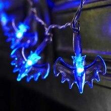 20 Bat LED Blue Lights String Battery Operated Halloween Decoration