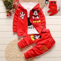 Baby Girl S 3pcs Suit Autumn Children Clothing Set Cartoon Mickey Kids Boys Girls Long Sleeve