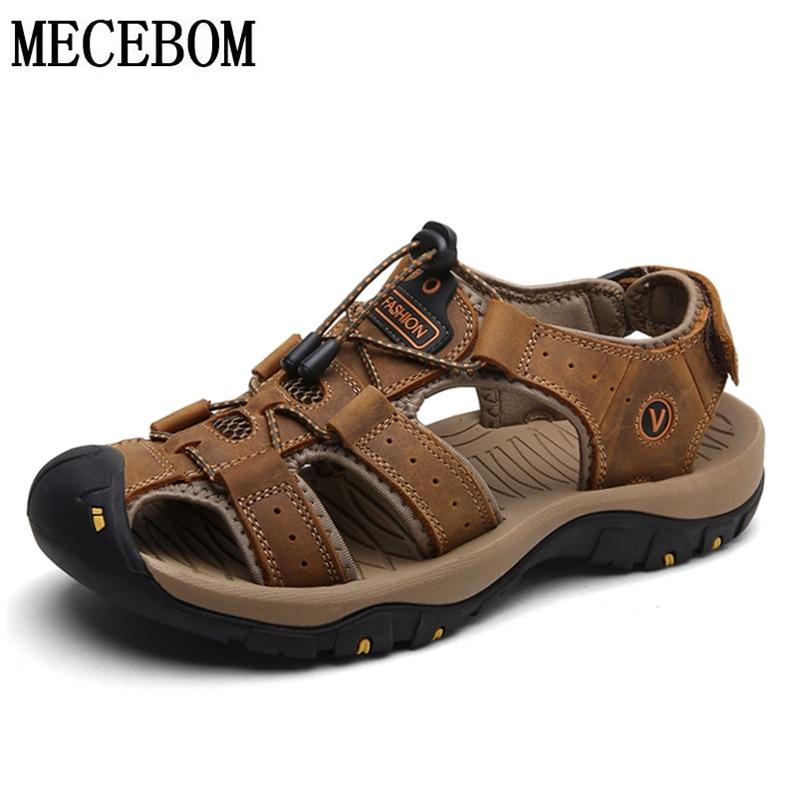 Summer Mens Classic Sandals Big Size 46 Comfortable Genuine Leather Shoes Foe Male Soft Men Roman Beach SandalsSummer Mens Classic Sandals Big Size 46 Comfortable Genuine Leather Shoes Foe Male Soft Men Roman Beach Sandals