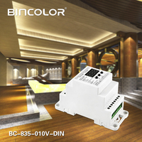 BC-835-010V-DIN DC12V 24V 5CH led Din Rail DMX512/1990 signal to 0-10V or PWM  DMX512 controller 10V 5V signal converter DMX512