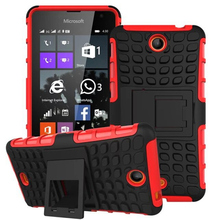 Shockproof Armor Stand Case for Microsoft Lumia 430 Cover,Hybrid TPU+PC