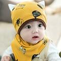 Осень и зима новый стиль ребенка головкой спящая cap высокое качество трикотажные теплую шапку хлопка вязание детская шапочка