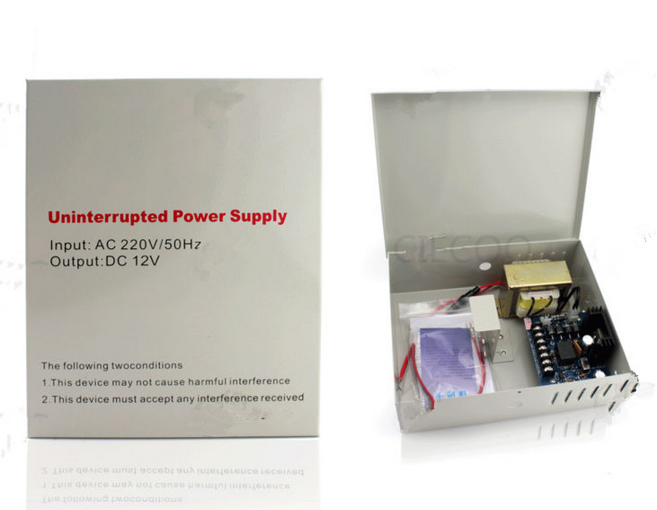 12V 3A Access control Power Supply can built in Battery Backup UPS Power Supply v 3 12